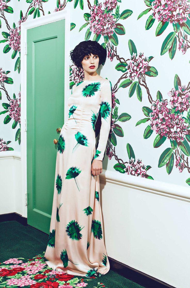 Nina Ricci floral print dress, www.kensalstudio.com