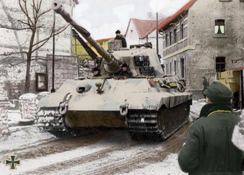 Tiger II in Belgium, December 1944.