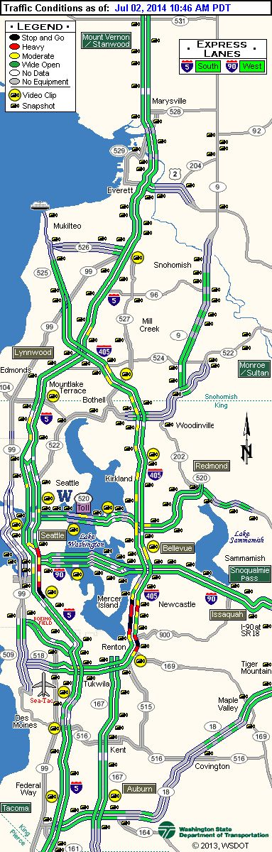 Traffic current conditions in WA state