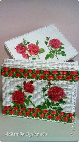Поделка изделие Плетение Как хороши как свежи были розы  Трубочки бумажные фото 1
