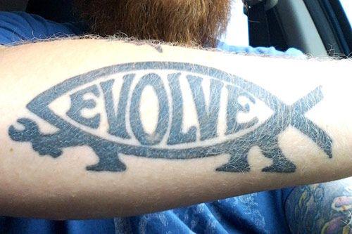 evolve arm tattoo
