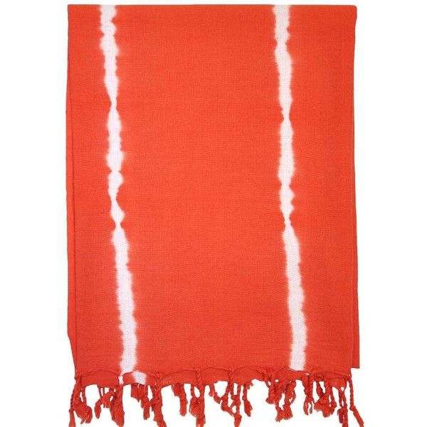 Turkish T Basic Breeze Tie-dye Towel In Tangerine Tango Red By (3970 RSD) ❤ liked on Polyvore featuring home, bed & bath, bath, bath towels, bath towels & washcloths, red bath towels, turkish cotton bath towels, orange bath towels, orange striped bath towels and lightweight bath towels
