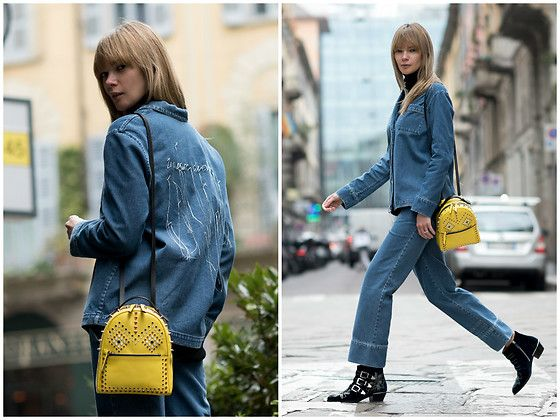 Get this look: http://lb.nu/look/8686925  More looks by Anastasiia Masiutkina: http://lb.nu/anastasiiamas  Items in this look:  Masha Bekh Denim Pajamas, Chloé Shoes, Les Petits Joueurs Backpack   #casual #street #eatdresstravel #anastasiiamasiutkina #streetstyle #streetstylevgenio #fashionblogger #fashionista #mashabekh