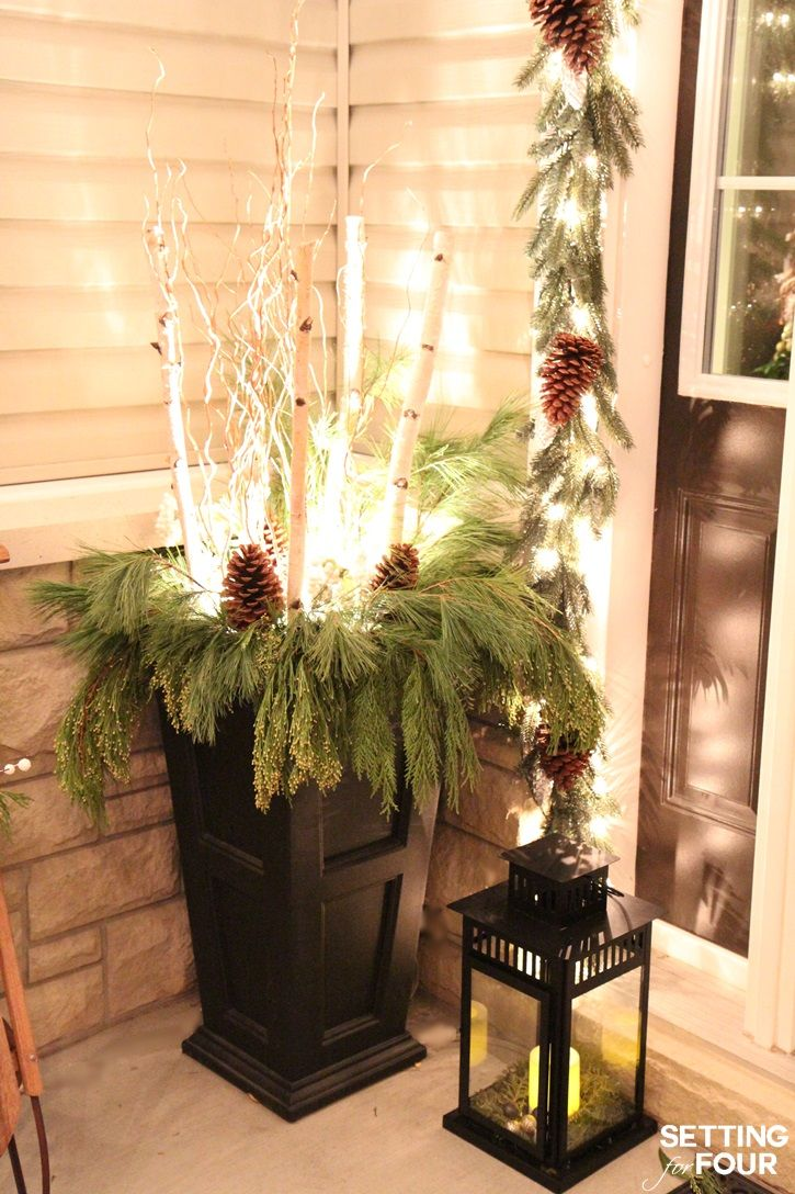 Christmas Lights At Night Home Tour PorchOutdoor ChristmasRustic