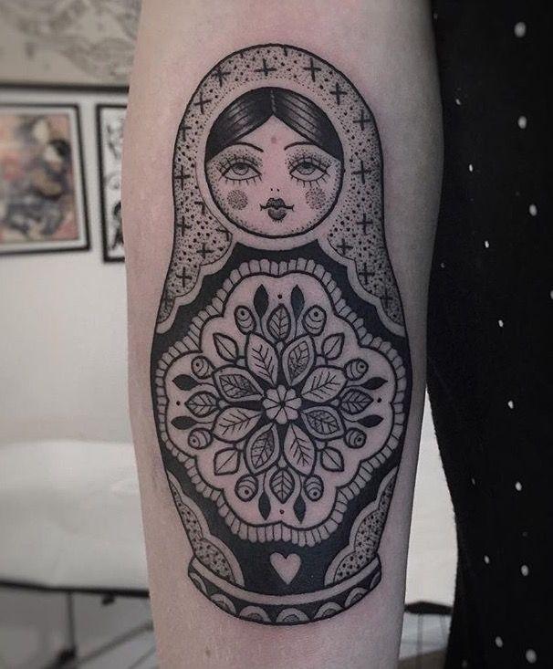 Susanne Konig matryoshka tattoo