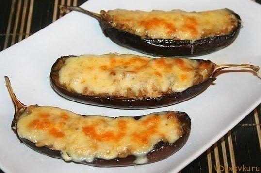 Жульен в баклажанах / Вегетарианские рецепты