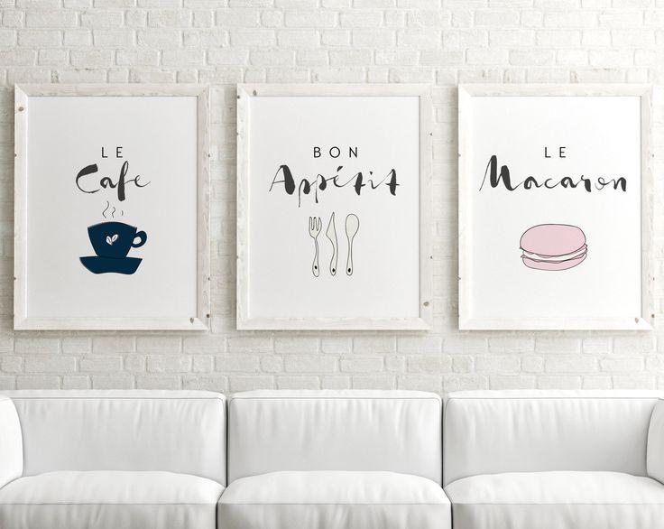 Set of 3 Prints // Paris Quote Wall Art, Paris Posters, Kitchen Poster, Paris Art Print, French Print, Paris Decor, Paris Wall Art Set by GirlFridayPaperArts on Etsy https://www.etsy.com/listing/249558279/set-of-3-prints-paris-quote-wall-art