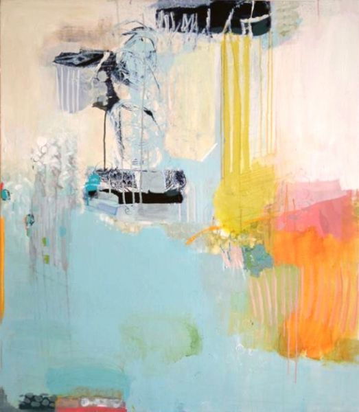 Madeline Denaro, Carousel of the mind, 2013 br/acrylic with polymers on canvas br/45x39 br/