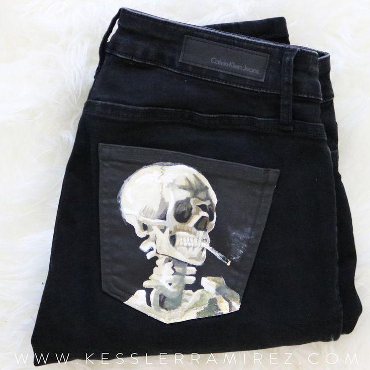 Van Gogh Skull Painted Jeans von Kessler Ramirez – #Gogh #jeans #kessler #painted #ramirez #…