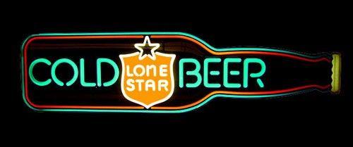 Lone Star Beer Vintage 3D Bottle Lighted Sign   Neon etc