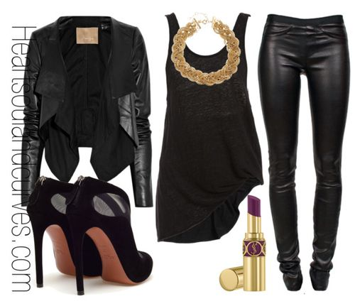 All Black Everything…but I would wear white lower cut tank with cheetah print bra.