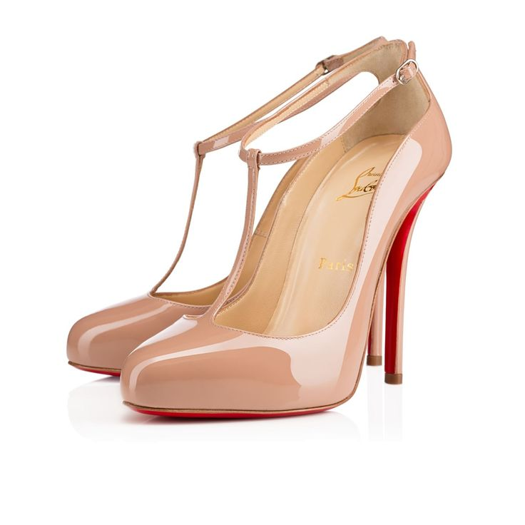 christian louboutin nude round-toe pumps, louboutin men's shoes
