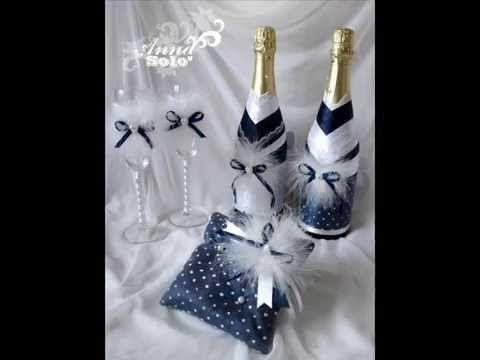 ▶ Декор бутылок от Anna_Solo. Коллекция. - YouTube