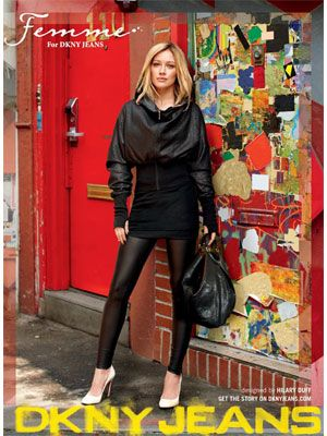 Hollywood star Hillary Duff in a pair of stylish jet black jeggings from DKNY. Who do you think from Bollywood can beat her style?