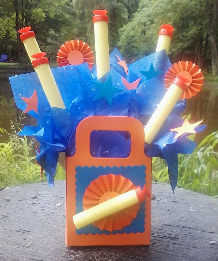Nerf birthday party centerpiece
