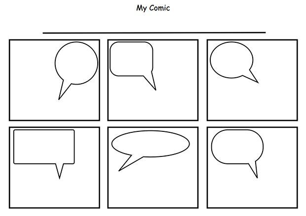 Printable Strip 2 Worksheet Comic Strip Template Comic