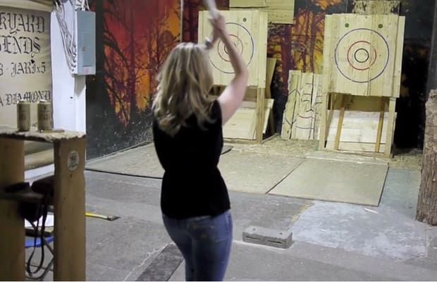 Battle Axe Throwing League - 13 Adult Playgrounds to Visit Around the World | Complex AU