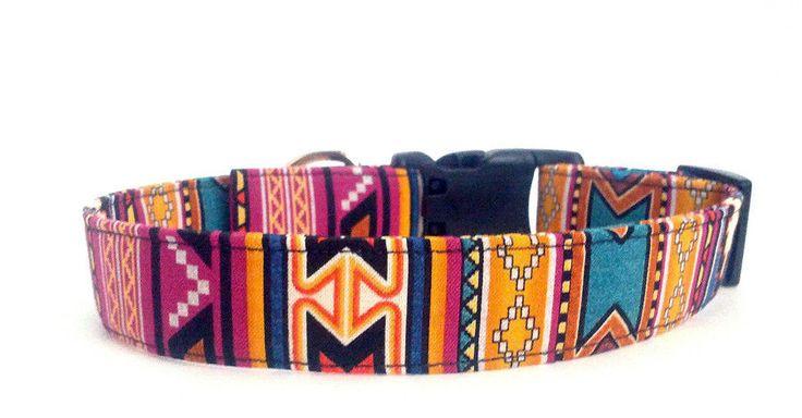 Handmade Native American Southwestern Tribal Colorful Dog Collar in Pet Supplies | eBay