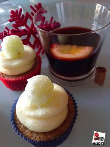 Mulled wine cupake can warm heart and soul in Xmas time.