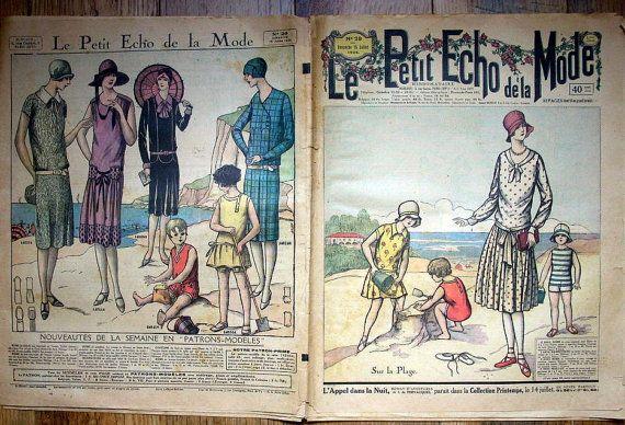 Le Petit Echo de la Mode July 15 1928 Vintage by aubonheurdesdames