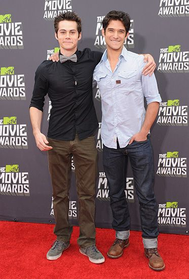 Dylan O'Brien and Tyler Posey are just so darn adorable together.