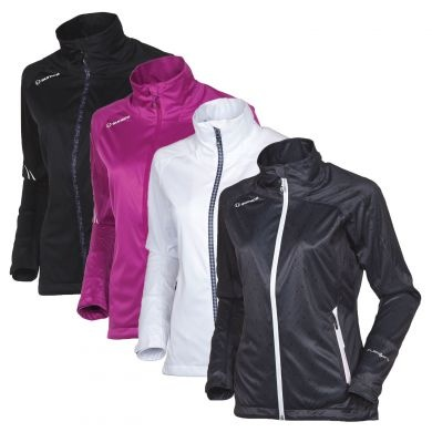 The Sunice Christine Golf Rain Jacket for Women is made to keep you bone dry through 6-7 hours of intense wind and rain, yet still feels soft to the touch, is quiet when you move, and looks great! Don't let another round of golf be ruined by rain, relish the challenge and keep dry!