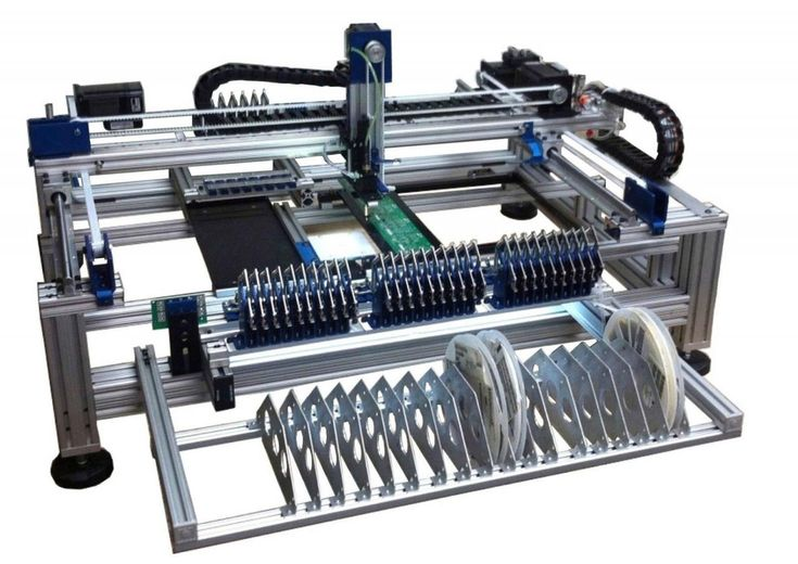 Automatic SMT Pick and Place Machine with Vision Works to 0402, LED and BGA IC's