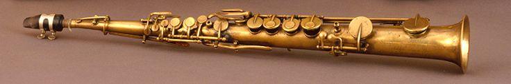 Soprano saxophone in B-flat (Adolphe Sax, 1858)