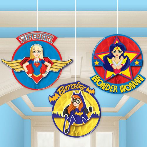 These honeycomb decorations would be perfect for a super hero theme!