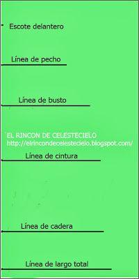 Escuadra líneas en trazo patrón anatómico básico de blusa