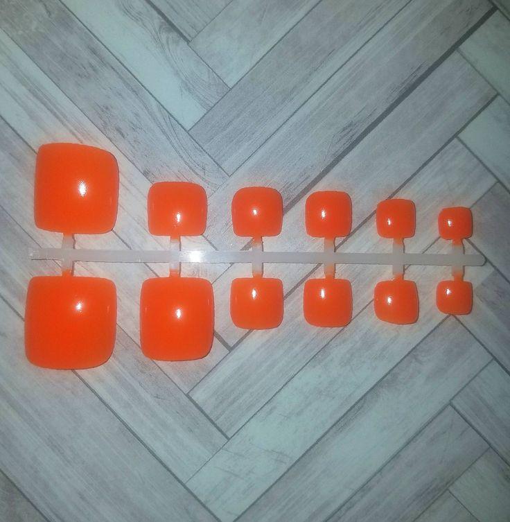 Neon Orange Toe Nails- Fake Toe Nails- False Nails- Press on Nails- Glue on Nails- Acrylic Nails- Artificial Nails- Toe Nail Set-Faux Nails by NailsBySammi on Etsy