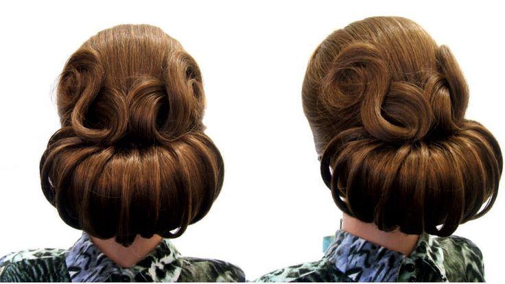 Свадебная прическа,вечерняя прическа. Wedding,prom hairstyles for long hair