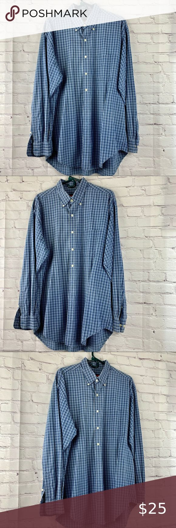 Austin Reed Blue Checkered Shirt In 2020 Blue Checkered Shirt Blue Checkered Checkered Dress