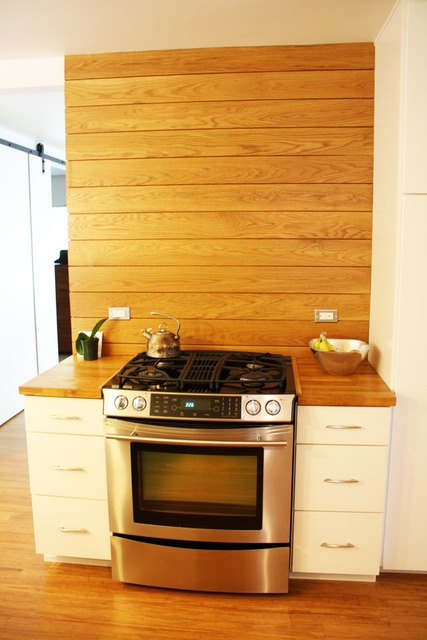 White Wood Panel Kitchen