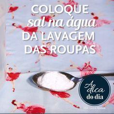Conhece a solução para roupa colorida que solta tinta durante a lavagem? Flávia…