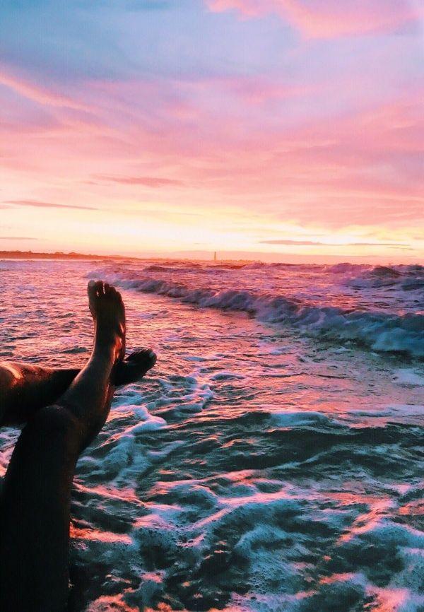 Beach Wallpaper Aesthetic Sunset