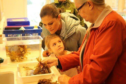 Princess Estelle and her mom visited Askö laboratory at Stockholm university Baltic Sea center in Trosa on 29th September 2017