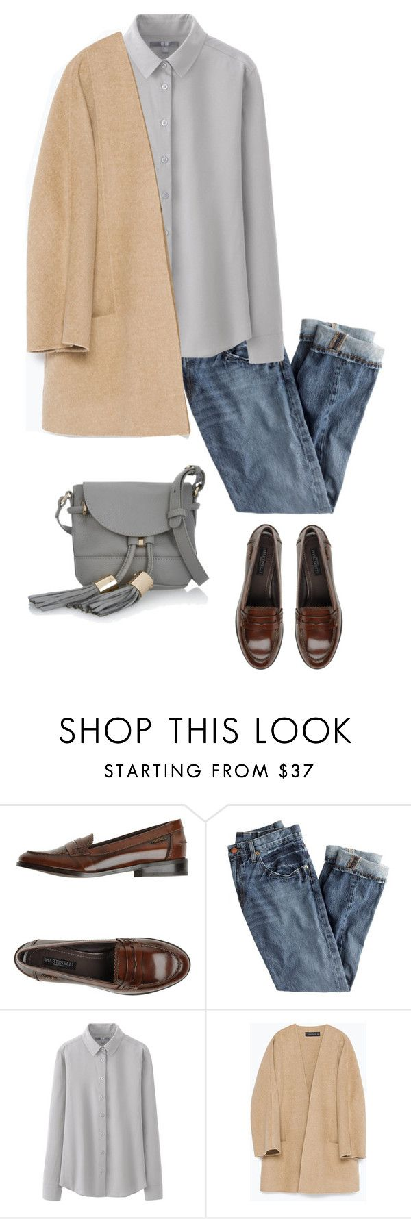 """Untitled #609"" by feryfery on Polyvore featuring Martinelli, J.Crew, Uniqlo, Zara and See by Chloé"