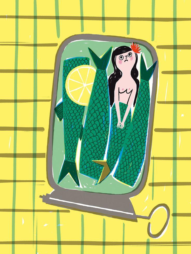 La petite sirène à l'huile   Editions Sarbacane-texte Emilie Chazerand
