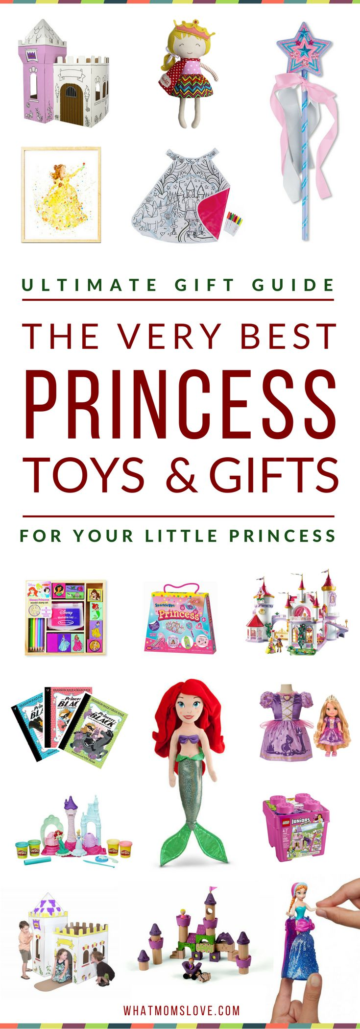 Best Princess Toys & Gifts for Girls | Our top picks have been extensively tested by kids & rated highly in playability, longevity & fun! Guide includes specific product recommendations for all things Princess: dolls, princess castles, arts & crafts, building toys, books & more. Includes both Disney Princess gifts & general Princess themed toys. Amazing gift ideas for toddlers to tweens for the Holidays, a birthday or other special occasion. Click to access the top picks, or pin for later.