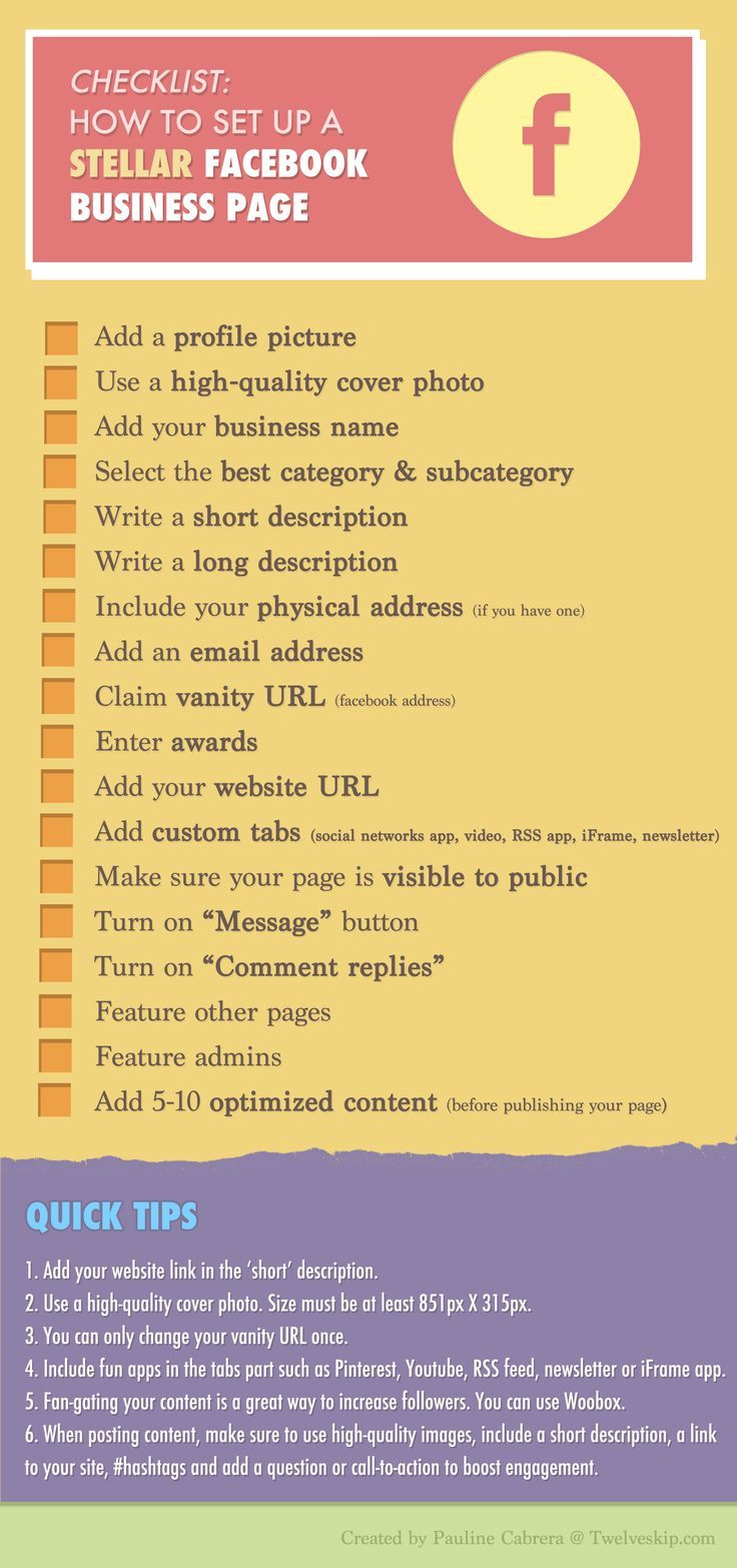 Checklist: How to Set up a Stellar #Facebook Business Page   http://weathertightroofinginc.com