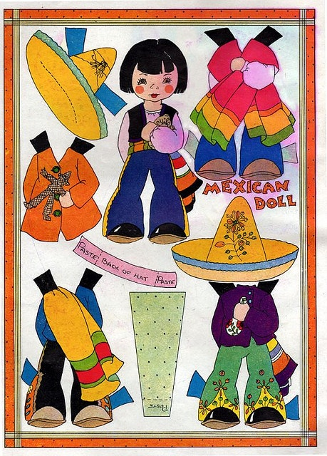 25 Best Images About Mexican Paper Dolls On Pinterest