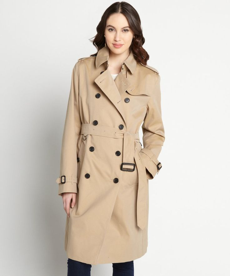 Perfect Womens Trench Coat : Trench Coats For Women Burberry Womens Dark Honey Cotton Lady Trench Coat
