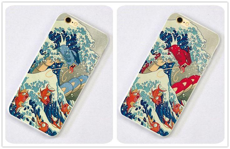 Pokemon Gyarados Anime Game iPhone SE 6s 7 Case Silicone TPU Free Shipping #55 | eBay