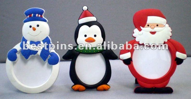 Lindo animal 3D diseño de la navidad de artículos de regalo de la foto de goma…