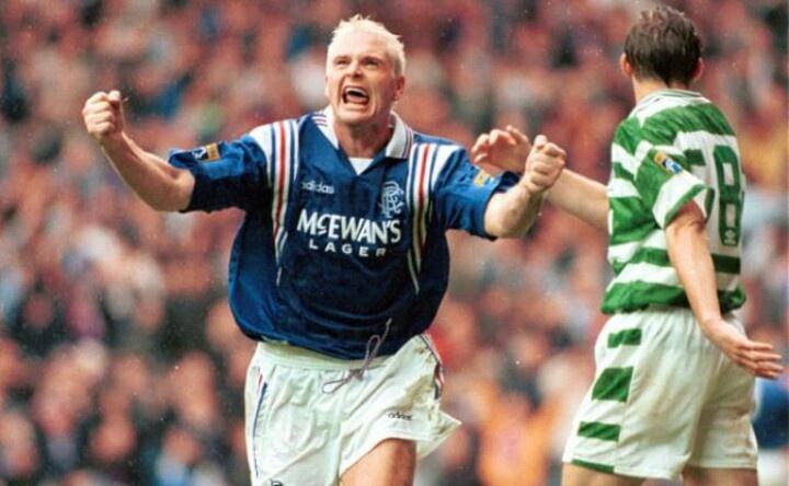 Paul Gazza Gasgoine scores against Celtic