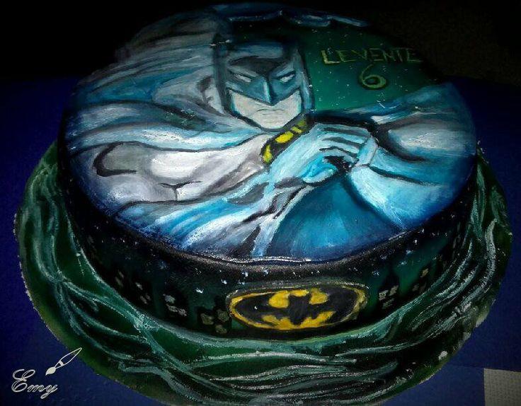Batman painted cake Batman festett torta