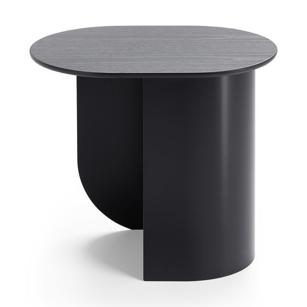 At The Table Or On The Table Plateau Side Table In Color Black Side Table Table Furniture