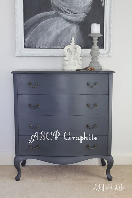 The colours of Annie Sloan Chalk Paint, Lilyfield Life: GRAPHITE #ascp #chalkpaint