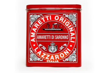 """This big tin of Amaretti biscuits does double duty. When you've polished off the crunchy beauties inside, you'll definitely find an excuse to hang onto the gorgeous bright red tin."" Alice, Content & Comms Chieftain (£19.50, Saponara Italian Delicatessen)"